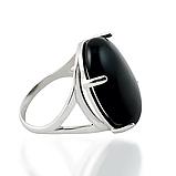 Агат черный, серебро 925, кольцо и кулон комплект, фото 6