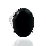 Агат черный, серебро 925, кольцо и кулон комплект, фото 7