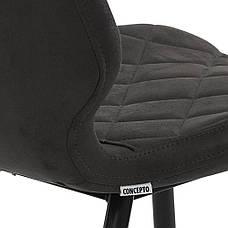 Diamond (Даймонд) стул обеденный текстиль графит оил, фото 3