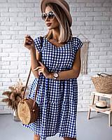 Летнее платье свободного кроя Синий, фото 1