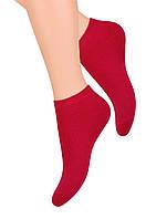 Короткие красные летние женские носки Steven 052, фото 1