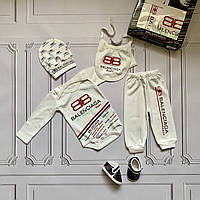 Balenciaga, набор для новорожденного, 5 предметов