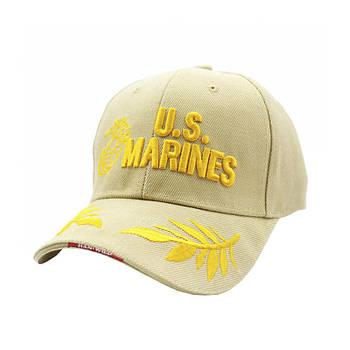 Бейсболка Han-Wild U.S.Marines Khaki тактическая с вышивкой армейская