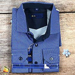 Синя сорочка для хлопчика, шкільний вік Воріт: від 28 по 36 (20523)