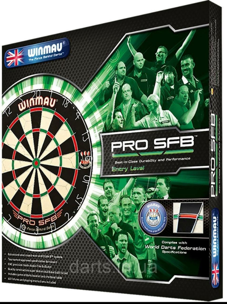 Набор для игры в дартс- мишень WINMAU ProSFB Англия с дротиками на двух игроков