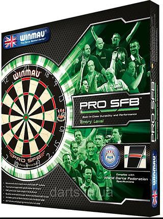 Набор для игры в дартс- мишень WINMAU ProSFB Англия с дротиками на двух игроков, фото 2