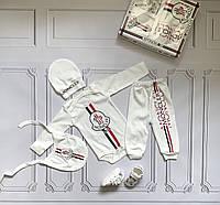 Moncler, набор для новорожденного, 5 предметов, фото 1