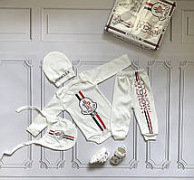 Moncler, набор для новорожденного, 5 предметов