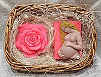"""Набор мыла ручной работы """"Роза и будущая мама"""""""