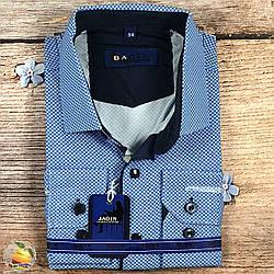 Сорочка з візерунком, кнопки і гудзики, шкільний вік Воріт: від 28 по 36 (20525)