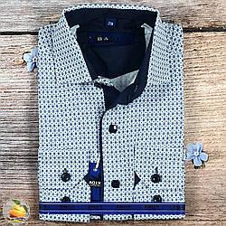 Сорочка з візерунком, кнопки і гудзики Воріт: від 28 по 36 (20526)