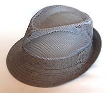 """Шляпа """"Челентанка"""" сетка серая (58 см)"""