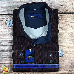 Темна сорочка для хлопчика в школу Воріт: від 28 по 36 (20529)