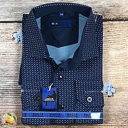 Синя сорочка для хлопчика в школу Розміри: від 8 до 16 років (Воріт 28 - 36) (20529)