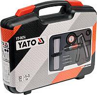 Диагностический вакуумный насос с 22 аксессуарами Yato YT-0674, фото 5