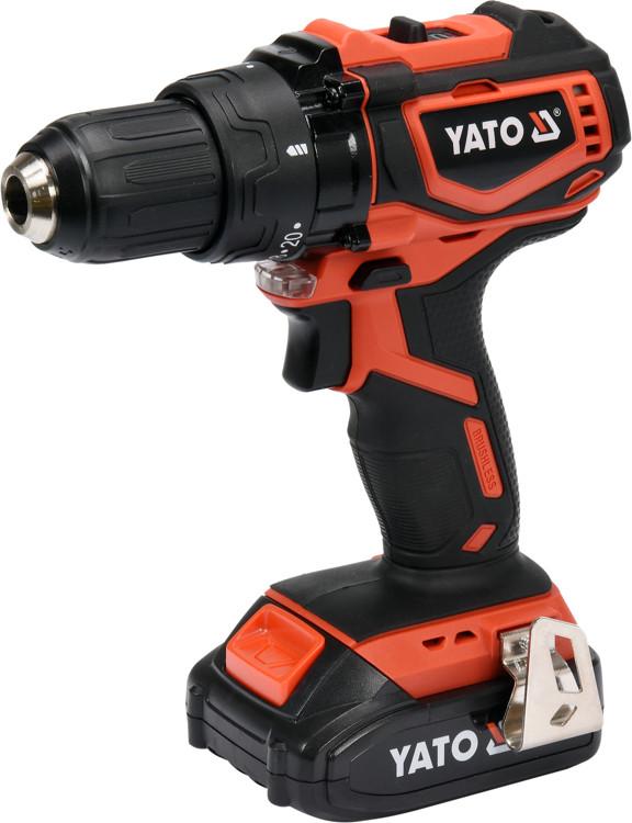 Двухскоростной аккумуляторный дрель-шуруповерт Yato YT-82794