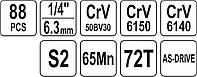 Набор инструментов 88 шт. YATO YT-38928, фото 6