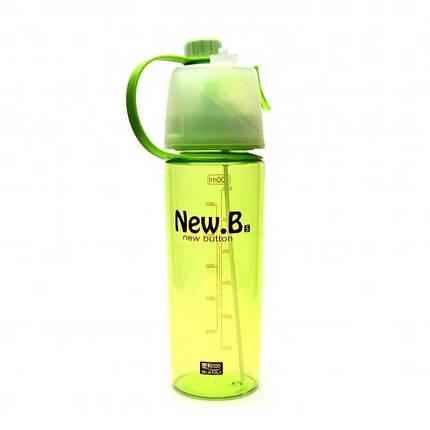 Пляшка для води з розпилювачем DP-078 600 мл Зелений, фото 2