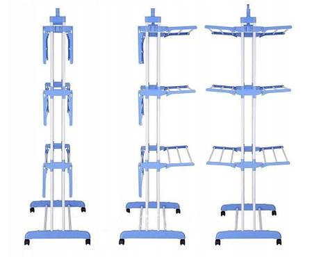 Складна сушарка для білизни Garment Rack With Wheels, фото 2