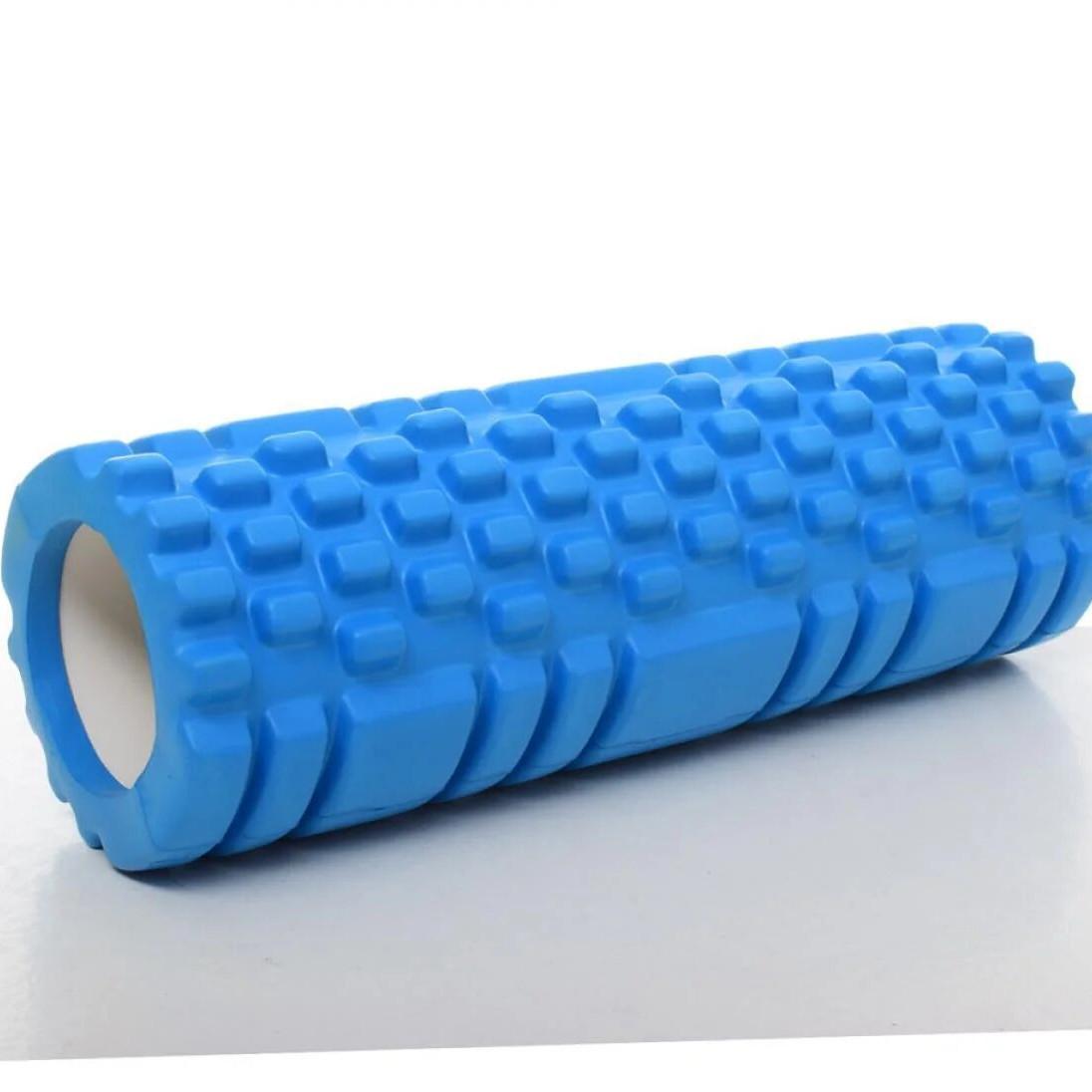 Валик-ролик массажный для йоги Голубой