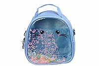 Детский прозрачный рюкзак Котик (Голубой), фото 1
