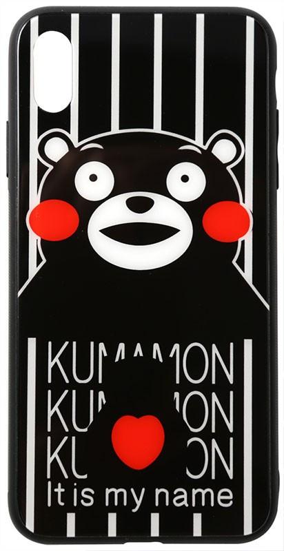 Чехол-накладка TOTO Cartoon Print Glass Case Apple iPhone XS Max Kumamon #I/S
