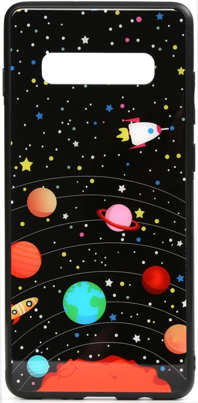 Чехол-накладка TOTO Cartoon Print Glass Case Samsung Galaxy S10e Planets #I/S