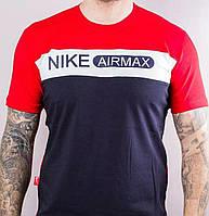 Футболка Мужская  Airmax  Красная Темно-Синяя