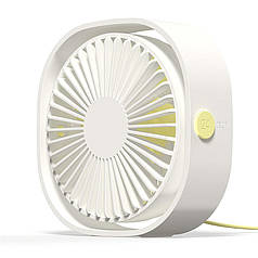 Вентилятор мини настольный USB для ноутбука ПК или в авто белый