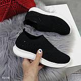 Кроссовки 38 размер  женские черные текстильные А15116, фото 2