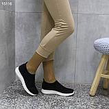 Кроссовки 38 размер  женские черные текстильные А15116, фото 3