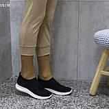 Кроссовки 38 размер  женские черные текстильные А15116, фото 5