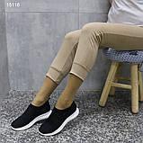 Кроссовки 38 размер  женские черные текстильные А15116, фото 4