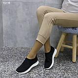 Кроссовки 38 размер  женские черные текстильные А15116, фото 8