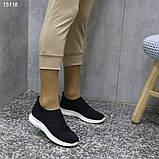 Кроссовки 38 размер  женские черные текстильные А15116, фото 6