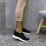 Кроссовки 38 размер  женские черные текстильные А15116, фото 7