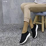 Кроссовки 38 размер  женские черные текстильные А15116, фото 9