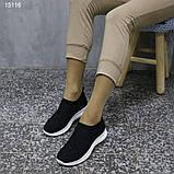 Кроссовки 38 размер  женские черные текстильные А15116, фото 10