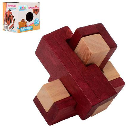 Головоломка деревянная, 8-8-8см, 5291, фото 2
