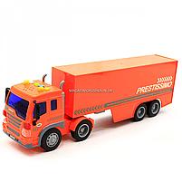 Машинка игровая Автопром «Трейлер» оранжевый со световыми и звуковыми эффектами, 39 см (7921AB), фото 4