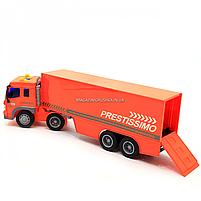 Машинка игровая Автопром «Трейлер» оранжевый со световыми и звуковыми эффектами, 39 см (7921AB), фото 5