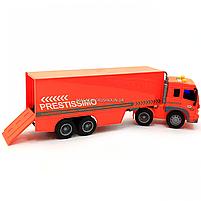 Машинка игровая Автопром «Трейлер» оранжевый со световыми и звуковыми эффектами, 39 см (7921AB), фото 6
