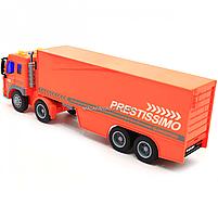 Машинка игровая Автопром «Трейлер» оранжевый со световыми и звуковыми эффектами, 39 см (7921AB), фото 8