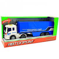 Машинка ігрова Автопром «Трейлер» синій зі світловими і звуковими ефектами, 39див (7921AB), фото 2
