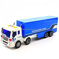 Машинка ігрова Автопром «Трейлер» синій зі світловими і звуковими ефектами, 39див (7921AB), фото 4