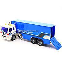 Машинка игровая Автопром «Трейлер» синий со световыми и звуковыми эффектами, 39см (7921AB), фото 5