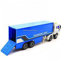 Машинка ігрова Автопром «Трейлер» синій зі світловими і звуковими ефектами, 39див (7921AB), фото 6