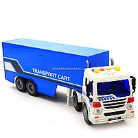 Машинка игровая Автопром «Трейлер» синий со световыми и звуковыми эффектами, 39см (7921AB), фото 7