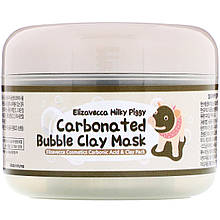 """Глиняно-пузырьковая маска Elizavecca, Milky Piggy """"Carbonated Bubble Clay Mask"""" кислородная (100 г)"""