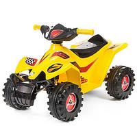 Квадроцикл электромобиль детский желтый украинского производства